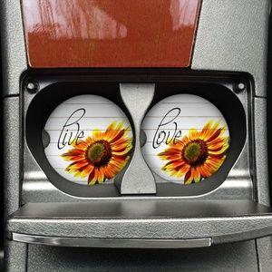 Accessories - Sunflower Car Coaster Set